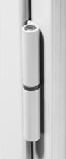 Paumelles pour fenêtre en aluminium couleur blanche