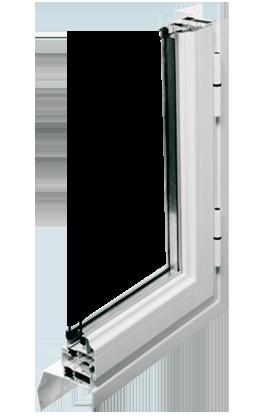 Fenêtre en aluminium double ou triple-vitrage