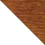 Fenêtre PVC bicolore blanc intérieur - chêne doré extérieur