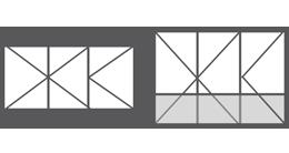 Vitrage 3 vantaux fenêtre en PVC
