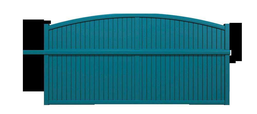 Portail aluminium forme arquée
