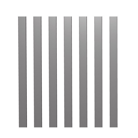 Portail aluminium ajouré
