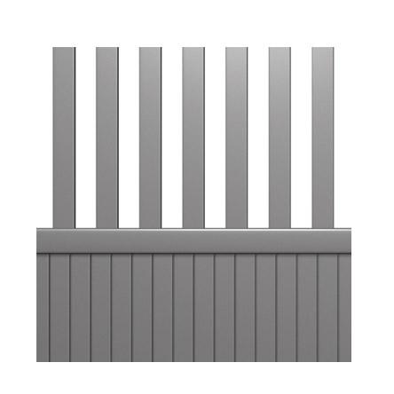 Portail aluminium soubassement