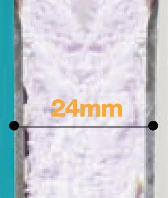 Porte en aluminium + polystyrène extrudé 21mm