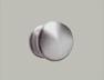 Pommeau porte Aluminium ton argent