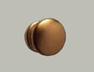 Pommeau porte Aluminium ton bronze