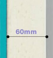 Porte d'entrée matériau composite épaisseur 60mm