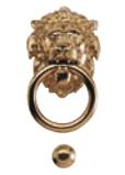 Heurtoir de porte tête de lion