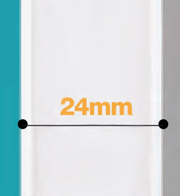 Porte PVC + polystyrène extrudé 21mm